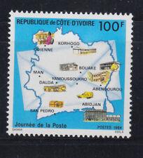 Ivory Coast 1984 Map of post office  Sc 715   MVLH
