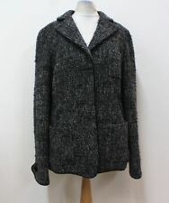ARMANI COLLEZIONI Ladies Black, Grey & White Woven Wool Blend Blazer UK14 IT46