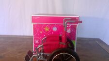 American Girl Doll Wheel Chair Red and Sliver