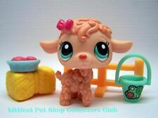 Littlest Pet Shop Super Rare! Peach LAMB lot #1432 FREE ACCESSORIES! BRAND NEW!