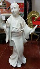 1977 Fitz and Floyd White Porcelain Samurai Warrior Figurine