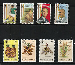 SIERRA LEONE 1981 X 2 SETS, 8 VALUES.   M.N.H.