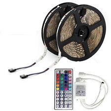 Tiras de Luces LED 10M RGB Flexible Impermeables 600LEDs 12V 8Modos Conectable