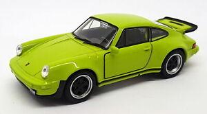 1977 Porsche 911 Turbo - Green - Kinsmart Pull Back & Go Car