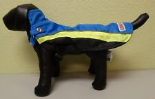 Kong Dog Puppy Rain Coat Removable Harness Combo Blue and Green Small/Medium