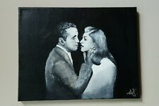 Bogey and Bacall,   11x14,  Acrylic, Original, Portrait