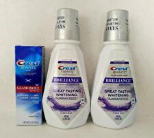 Crest 3D White Brilliance Alcohol Free Mouthwash 16.9 oz X 2 + Toothpaste