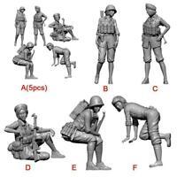 1/35 Resin Kits Modern Male/female soldier Self-assembled Model YFWW-2066 W5N4