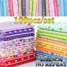 50/100Pcs Floral Cotton Fabric Bundle Patchwork Scraps Quilting Sewing Crafts