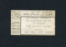 1987 Fleetwood Mac Concert Ticket Stub Cedar Rapids Ia Tango In The Night
