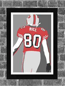 San Francisco 49ers Jerry Rice Portrait Sports Print Art 11x17
