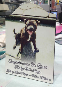 Pet Memorial Plaque - Personalised Arched Tile For Dog Cat Rabbit - Your photo