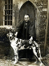 GREAT DANE AND PRIEST PHOTO ON DOG GREETINGS NOTE CARD