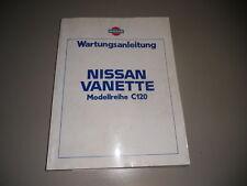 Manuel D'Atelier Nissan Vanette C120 Stand 05/1983