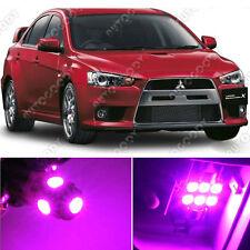 8 x Premium Hot Pink LED Lights Interior Package Kit for Lancer Evo X