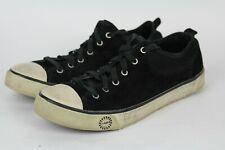 UGG Australia EVERA Womens Sz 9.5 Black Sheepskin Suede Sneaker Casual Shoes