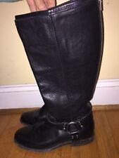 Frye Phillip Harness Tall Women's Zip Up Boots In Black Sz 8.5