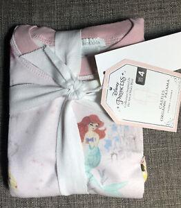 Pottery Barn Kids Disney Princess Castles Pajama Set 4 Blush Pink Mary Blair Art