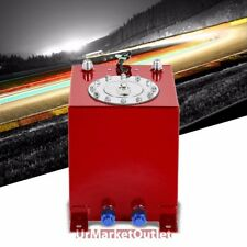 Red Aluminum 2.5 Gallon/9.5L Gas Fuel Cell Tank/Polish Cap Door+Level Sender