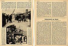 Zeitvertreib an Bord * Seereisen Vergnügungsfahrten 1914 Historische Memorabile