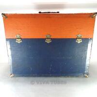 Large, Orange & Blue, Westinghouse, Vintage Radio TV Vacuum Tube Caddy Case
