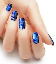 New ListingWinter Snowfall blue color real nail polish strips Khs4038 street art wraps