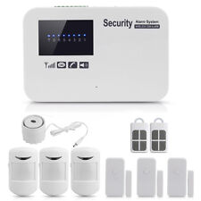 Home House Security Alarm System Wireless GSM IOS Android APP Controlled White