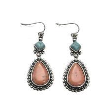 Women Boho Vintage Turquoise Copper Dangle Hook Earrings Party Ear Jewelry Gift