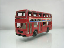 Diecast Matchbox Leyland Titan Tour Bus 1981 in Red Good Condition