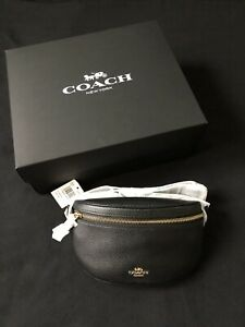 Coach Belt Bag in Black with Pebble Leather - 39939
