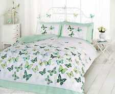 SUPERB TRENDY FUNKY COTTON BUTTERFLY GREEN DOUBLE DUVET SET QUILT COVER
