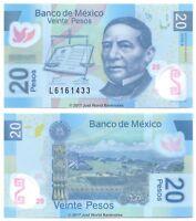 Mexico 20 Pesos 2013 Polymer P-122h Banknotes UNC