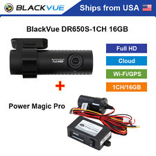 BlackVue 1 Channel DR650S-1CH Full HD WiFi GPS 16GB Dashcam + Power Magic Pro