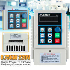0.75KW 1HP Variable Frequency Drive Inverter Speed Control CNC Single To 3