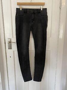 Ladies Black Jeans UK Size 10 Long Tesco F&F Trousers Pants Women's (Eur 38) 6