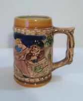 Vintage German Decorative coffee and beer Mugs Porcelain Cups Set of 3