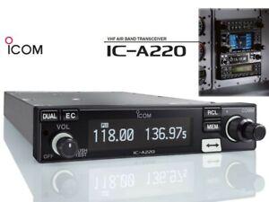 Icom IC-A220 Panel Mount Com, Non TSO'd *REMANUFACTURED*
