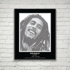 Original Bob Marley Poster in his own words. Image made of Bob Marley quotes!