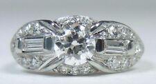 Antique Art Deco Diamond Engagement 18K White Gold Ring Size 5 UK-J1/2 EGL USA