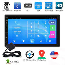 7inch Android 9.1 Car Mp5 Player Radio Stereo 2 Din HD Touch Screen Video WIFI