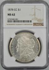 1878-CC Morgan Silver Dollar NGC MS 62 No Reserve Auction - 99C Opening Bid