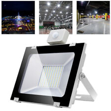 100W LED Floodlight PIR Motion Activated Cool Garden Lighting Security Lights