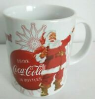 Coca Cola Happy Holidays Coffee Mug Santa Clause Bottle Christmas Coke