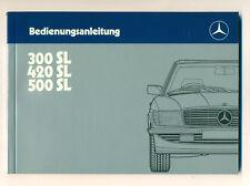 Mercedes 300 SL 420 SL  500 SL 1985 Original Bedienungsanleitung W107