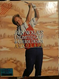 Jack Nicklaus Unlimited Golf & Course Design Accolade PC  1990 5.25  Floppy disk