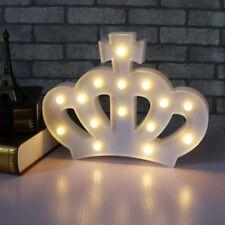 3D Crown Night Lamp Nursery Kids Room Decor party Light Birtyday Wedding Light