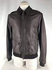 Avirex USAF Air Force A-2 Flight Bomber Aviator Leather Jacket Brown Sz 40 USA