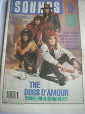 SOUNDS magazine September 16th 1989 Dogs D'Amour Jagger Telescopes
