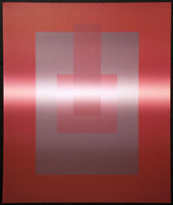 "Ann Taylor ""Synthesis"" Signed Numbered Lithograph red squares geometric abstract"