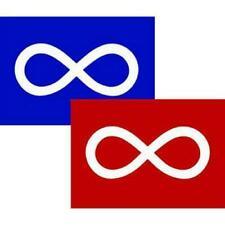 Metis Azul E Vermelho 2PK 3ft X 5ft Bandeira Banner/qualidade 100% poliéster ilhós de metal